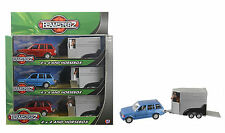 DIECAST TEAMSTERZ TOY 4 x 4 RANGE ROVER HORSE & HORSEBOX with opening doors