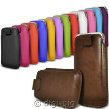 COLOUR (PU) LEATHER PULL TAB POUCH COVER CASE FOR NOKIA 100 MOBILE PHONE