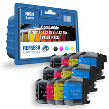 12 X COMPATIBLE BROTHER MFC DCP INK CARTRIDGES LC127XL / LC125XL 3 FULL SETS