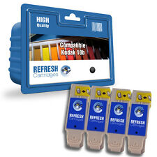REFRESH CARTRIDGES 4 PACK OF BLACK 10B INK COMPATIBLE WITH KODAK PRINTERS