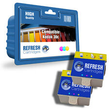 2 PACK COMPATIBLE KODAK 10 COLOUR INK CARTRIDGES FOR EASYSHARE ESP HERO PRINTERS