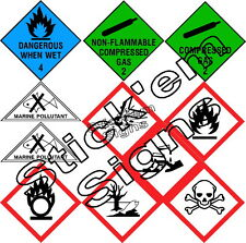 Dangerous substances labels stickers signs health & safety H&S flammable gas 3