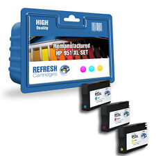 3 COLOUR PACK REMANUFACTURED HP 951XL HP 951 HIGH CAPACITY INK CARTRIDGES