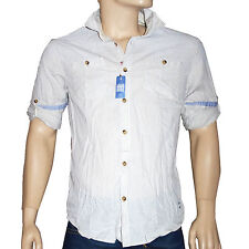 SCOTCH AND SODA chemise slim fit homme rayures bleu sur ecru taille L