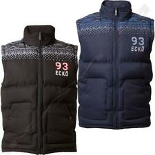 Mens Ecko ALDGATE Gilet Jacket Full Zip Body Warmer Quilted Padded Aztec