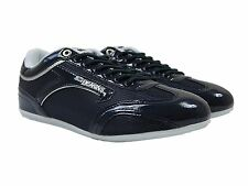 MENS NICHOLAS DEAKINS NEW DRACO SHINY TRAINERS IN NAVY COLOUR SNEAKERS ALL SIZES