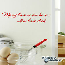 Wall Decal Quote I Only Have a Kitchen Decals Vinyl Sticker Kitchen Decor aa415