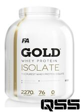 FA NUTRITION FITNESS AUTHORITY GOLD WHEY PROTEIN ISOLATE 2.27KG ZERO FAT & SUGAR