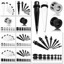 Set Flesh tunnel plug taper set dilatatore spirale 2 3 4 5 6 8 10 mm piercing