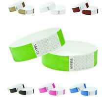 Security event wristbands, paper like, plain event party band-choice of colours