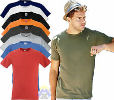 T-shirt ADERENTE Uomo/Man FRUIT OF THE LOOM Maglia S M L XL XXL Manica Corta New