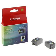 GENUINE OEM CANON BCI-16C COLOUR TWIN PACK OF PRINTER INK CARTRIDGES