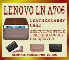 MOBILE DIARY POUCH CASE FOR LENOVO LN-A706 COLOR- BLACK BROWN WHITE