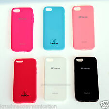 PREMIUM SOFT SILICON SHELL BACK COVER CASE COLOR FOR APPLE IPHONE5, 5S