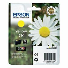 GENUINE EPSON EXPRESSION YELLOW INK CARTRIDGE / EPSON 18 / DAISY / C13T18044010