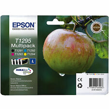 GENUINE EPSON APPLE SERIES INK CARTRIDGE MULTIPACK FULL SET T1295 / C13T12954010