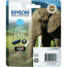 GENUINE EPSON ELEPHANT HIGH CAPACITY LIGHT CYAN INK CARTRIDGE 24XL C13T24354010