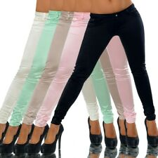 G039 Damen Hose Leggings Neonfarben Leggins Jeans Treggings Neon Jeggings Röhre