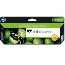 GENUINE HP HEWLETT PACKARD OFFICEJET HIGH CAPACITY HP 971XL CYAN INK CARTRIDGE