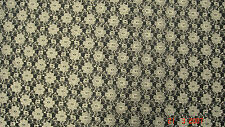 Ivory Floral Lace Wedding Craft Dress Fabric FREE P+P VARIOUS COLOURS AVAILABLE