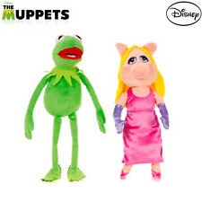 """OFFICIAL DISNEY MUPPETS MOST WANTED 12"""" CUDDLY PLUSH TOYS MISS PIGGY & KERMIT"""