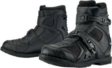 ICON FIELD ARMOR 2 MOTORCYCLE STREET RIDING BOOTS BLACK MENS 8-14 STEEL SHANK