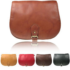 Soft Leather Saddle Messenger Cross Body Bag Satchel Vitali SN073