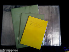 "INDIVIDUAL SCHOOL EXERCISE BOOK COVER  A4 A5 230mm (9""x7"") strong clear plastic"