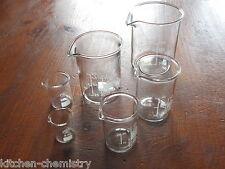 SIMAX Glass Beaker Set 5 10 25 50 100 150 250 400 ml New Containers Branded Size