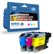 COMPATIBLE BROTHER MFC DCP INK CARTRIDGES LC121 / LC123 - 3 COLOUR VALUE PACK