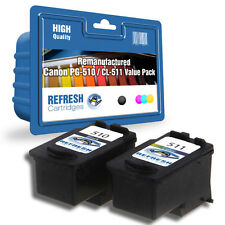 REMANUFACTURED CANON PIXMA - PG-510 & CL-511 BLACK & COLOUR INK CARTRIDGES
