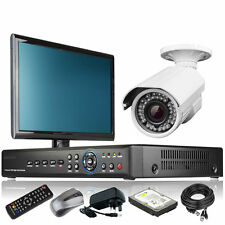 1 x Optical Zoom Camera Full HD 4 CH DVR CCTV System Home & Business Monitor UK