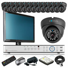14 x Outdoor Colour Camera HD-MI 16 CH DVR CCTV Package Motion Detection Monitor