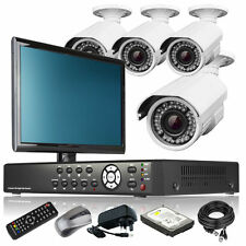 4 x Focal Lens Camera HD-MI 8 CH DVR CCTV Complete Package 4TB HDD with Monitor