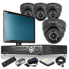 4 x Professional Camera Full HD 4 CH DVR CCTV System Home & Business Monitor UK