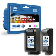 REMANUFACTURED HP 15 / HP 78  HIGH CAPACITY INK CARTRIDGE TWIN VALUE PACK