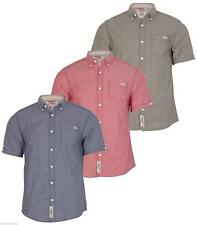 Mens TOKYO LAUNDRY Coloured Chambray, Speckled Casual Short Sleeve Shirt