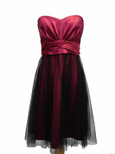 Stunning Strapless Satin Look Dress With Mesh Overlay Lower & Waist Tie