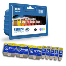 COMPATIBLE KODAK 10B BLACK / 10C COLOUR - 8 INK CARTRIDGE SUPER SAVER VALUEPACK