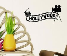 Hollywood Kino Wandtattoo Wandaufkleber Kamera Wand Sticker Film Aufkleber 5S050