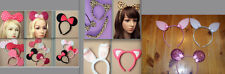 EARS MINNIE MOUSE RABBIT CAT LEOPARD MOUSE TIGER ALL ON HEADBAND PARTY HEN NIGHT