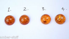 Baltic amber cabochon  12mm single or pairs