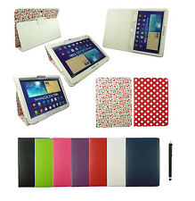 Wallet Folio Case Cover for Various Samsung Galaxy Tab Tablet & Black Stylus