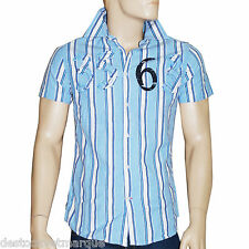 DDP chemise manches courtes regular bleue rayée homme taille L