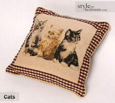 Vintage Cat / Kittens Tapestry Cushion Covers or Filled Cushions