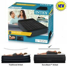 Queen Inflatable Raised Air Bed with Built in Pump Double Mattress Camping Cheap