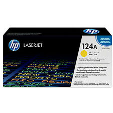 GENUINE HP HEWLETT PACKARD Q6002A 124A YELLOW LASER PRINTER TONER CARTRIDGE