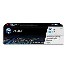 GENUINE HP HEWLETT PACKARD CE321A / 128A CYAN LASER PRINTER TONER CARTRIDGE