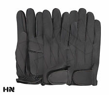 LEATHER DRIVING GLOVES SOFT GEL PADDED MEN'S MOTORBIKE CHAUFFEUR BUS FASHION