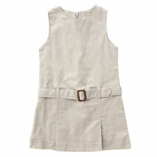 French Cyrillus Girl's Grey Corduroy Pinafore Dress Size 3 4